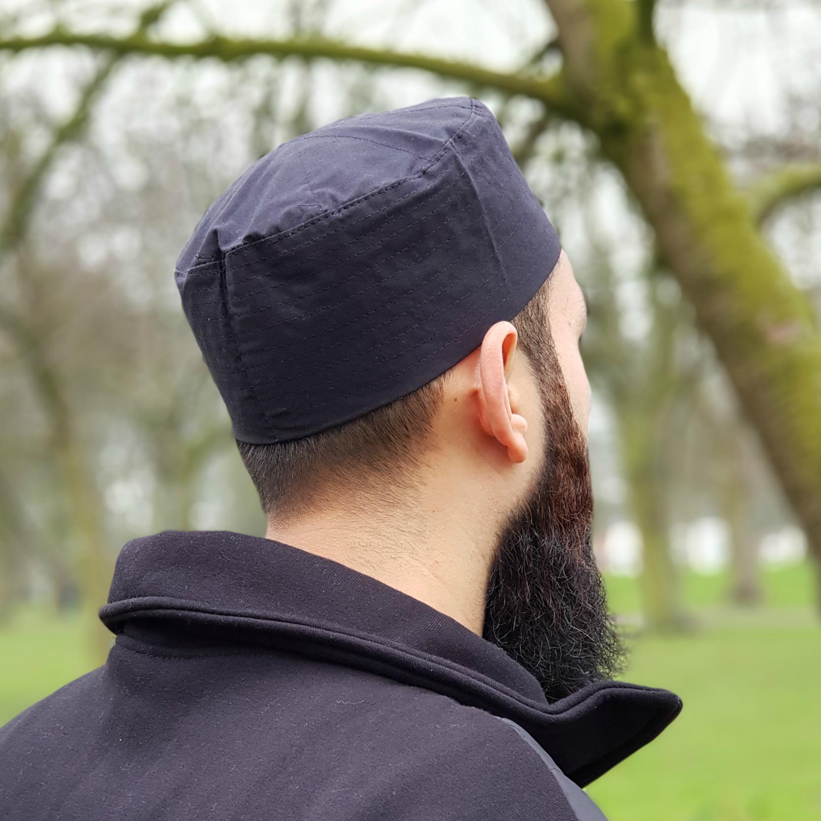 Islamic Cotton Kufi Hat – Black – Ar Rihla 9145f880f67